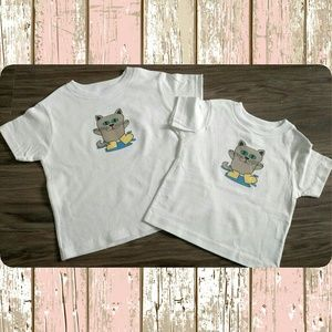Other - New cite cat with rain boots white kids shirt